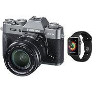Fujifilm X-T30 šedy + XF 18-55mm + Apple Watch Series 3 38mm GPS Vesmírně šedý hliník s černým sport