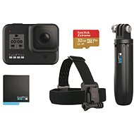 GOPRO HERO8 BLACK + Headband + Shorty + Battery + SD Card - Outdoor Camera