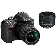 Nikon D3400 čierny + 18–55 mm AF-P VR + 50 mm AF-S