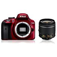 Nikon D3400 červený + 18–55 mm AF-P VR - Digitálny fotoaparát