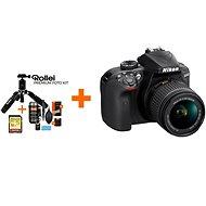 Nikon D3400 černý + 18-55mm VR + 70-300 VR + Rollei Premium Starter Kit - Digitálny fotoaparát