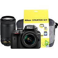 Nikon D3400 čierny + 18-55mm VR + 70-300 VR + Nikon Starter Kit - Digitálny fotoaparát