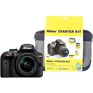 Nikon D3400 čierny + 18–55 mm AF-P + Nikon Starter Kit - Digitálny fotoaparát