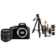 Nikon D3500 čierny + 18–55 mm VR + Rollei Foto Starter Kit 2 - Digitálny fotoaparát