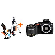 Nikon D3500 čierny + 18–55 mm VR + Rollei Starter Kit - Digitálny fotoaparát