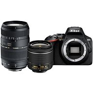 Nikon D3500 čierny + 18-55 mm VR + Tamron 70-300 mm - Digitálny fotoaparát