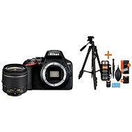 Nikon D3500 čierny + 18–55 mm + Rollei Foto Starter Kit 2 - Digitálny fotoaparát