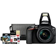 Nikon D3500 čierny + 18–55 mm + Nikon Starter Kit 55 mm, 32 GB - Digitálny fotoaparát