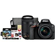 Nikon D3500 čierny + 18–55mm VR + 70–300mm VR + Nikon Starter Kit 55mm – 32GB - Digitálny fotoaparát