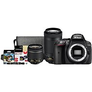 Nikon D5300 čierny + 18–55 mm AF-P VR + 70–300 mm AF-P VR + Nikon Starter Kit - Digitálny fotoaparát