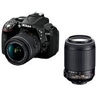 Nikon D5300 čierny + 18–55 mm AF-P VR + 55–200 mm AF-S VR II - Digitálny fotoaparát