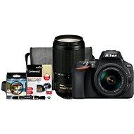 Nikon D5600 + AF-P 18–55 mm VR + 70–300 mm VR + Nikon Starter Kit - Digitálny fotoaparát