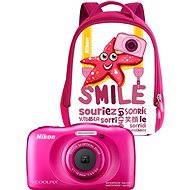 Nikon COOLPIX W100 ružový backpack kit - Detský fotoaparát