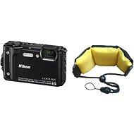 Nikon COOLPIX W300 čierny + 2 v 1 plávajúci popruh - Digitálny fotoaparát