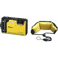 Nikon COOLPIX W300 žltý + 2 v 1 plávajúci popruh - Digitálny fotoaparát