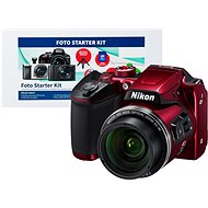 Nikon COOLPIX B500 červený + Alza Foto Starter Kit - Digitálny fotoaparát