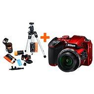 Nikon COOLPIX B500 červený + Rollei Starter Kit