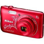Nikon COOLPIX A300 červený lineart - Digitálny fotoaparát
