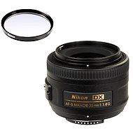NIKKOR 35 mm f/1,8 AF-S DX + UV filter Hama 0-HAZE - Objektív