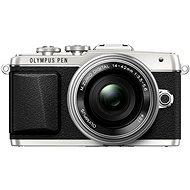Olympus PEN E-PL7 strieborný + objektív 14–42 mm Pancake Zoom - Digitálny fotoaparát