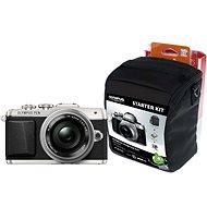Olympus PEN E-PL7 strieborný + objektiv 14 – 42 mm Pancake Zoom + Olympus Starter Kit zdarma - Digitálny fotoaparát