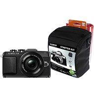 Olympus PEN E-PL7 čierny + objektiv 14 – 42 mm Pancake Zoom + Olympus Starter Kit zdarma - Digitálny fotoaparát