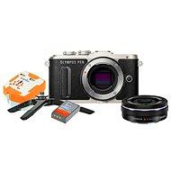 Olympus PEN E-PL8 čierny + Pancake objektív ED 14 – 42EZ čierny + Travel kit - Digitálny fotoaparát
