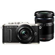 Olympus PEN E-PL8 čierny + Pancake objektív ED 14–42 mm EZ čierny + objektív ED 40–150 mm čierny - Digitálny fotoaparát