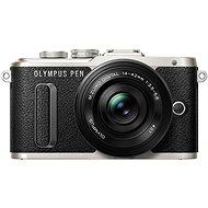 Olympus PEN E-PL8 černý + Pancake objektiv ED 14-42 mm EZ černý + Olympus Starter Kit