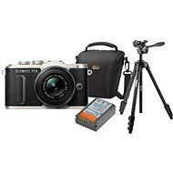 Olympus PEN E-PL8 čierny + Pancake objektív ED 14-42EZ čierny + Olympus Starter Kit - Digitálny fotoaparát