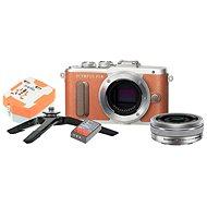 Olympus PEN E-PL8 hnedý + Pancake objektív ED 14 – 42EZ strieborný + Travel kit - Digitálny fotoaparát