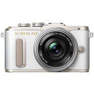 Olympus PEN E-PL8 biely + Pancake objektív ED 14 – 42 EZ strieborný - Digitálny fotoaparát
