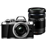 Olympus E-M10 Mark II Pancake silver + ED 14-42EZ strieborný+ 40-150mm R čierny - Digitálny fotoaparát