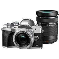 Olympus OM-D E-M10 Mark IV + 14–42 mm EZ + 40–150 mm R strieborný - Digitálny fotoaparát