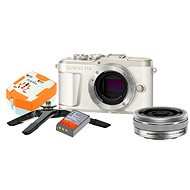 Olympus PEN E-PL9 biely + M.Zuiko Pancake 14 – 42 mm + Travel kit