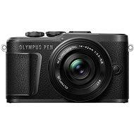 Olympus PEN E-PL10 čierny + Pancake Zoom Kit 14–42 mm čierny - Digitálny fotoaparát