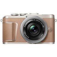 Olympus PEN E-PL10 hnedý + Pancake Zoom Kit 14–42 mm strieborný - Digitálny fotoaparát