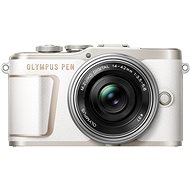 Olympus PEN E-PL10 biely + Pancake Zoom Kit 14–42 mm strieborný - Digitálny fotoaparát
