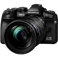 Olympus E-M1 Mark III telo + objektív 12 – 40 mm čierny/čierny - Digitálny fotoaparát