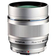 M.ZUIKO DIGITAL ED 75 mm silver - Objektív