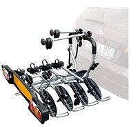 Nosič pre ťažné zariadenie SIENA pre 4 bicykle Fe, strieborné - Nosič bicyklov na ťažné zariadenie