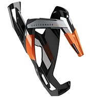 Košík na fľašu Elite Custom Race Plus lesklý čierny/oranžový
