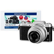 Panasonic LUMIX DMC-GF7 strieborný + objektív 12–32 mm + Alza Foto Starter Kit - Digitálny fotoaparát