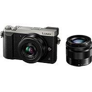 Panasonic LUMIX DMC-GX80 strieborný + objektív 12–32 mm + objektív 35–100 mm - Digitálny fotoaparát