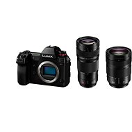 Panasonic LUMIX DC-S1R + objektív 24–105 mm + Panasonic Lumix S Pro 70–200 mm f/4,0 OIS