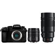 Panasonic LUMIX DC-G90 + Lumix G Vario 14–140 mm čierny + Panasonic Leica DG Elmarit 200 mm f/2,8 Power