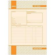 OPTYS 8982 Objednávka - Tlačivo