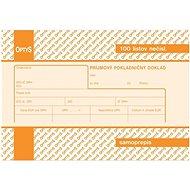 OPTYS 8791 Príjmový pokladničný doklad s DPH - Tlačivo