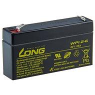 Long 6 V 1,2 Ah olovený akumulátor F1 (WP1.2-6) - Nabíjacia batéria
