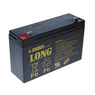 Long 6 V 12 Ah olovený akumulátor F1 (WP12-6S) - Nabíjateľná batéria